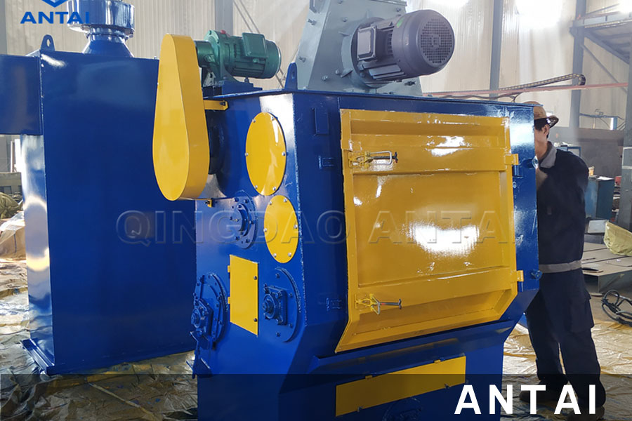 Q326 Tumble rubber belt type shot blasting machine